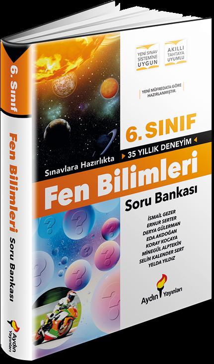 6. Sınıf Fen Bilimleri Soru Bankası Aydın Yayınları