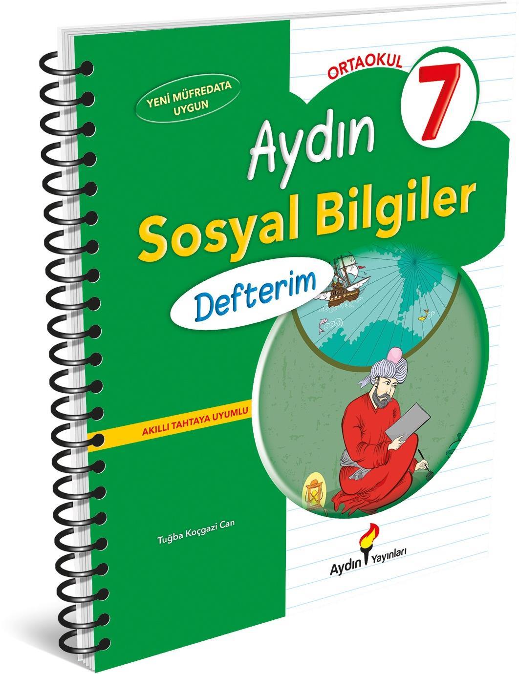 7. Sınıf Sosyal Bilgiler Defterim Aydın Yayınları