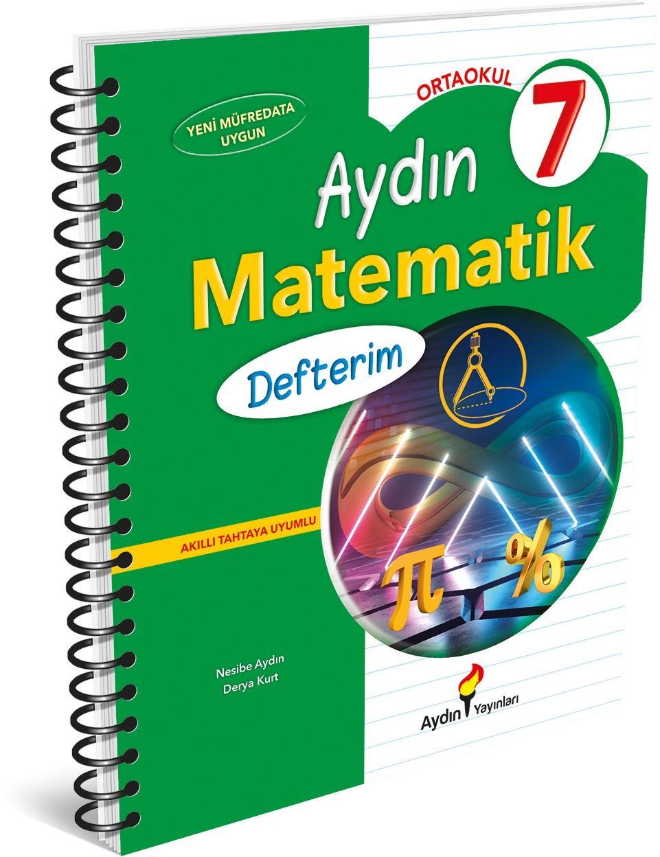 7. Sınıf Matematik Defterim Aydın Yayınları