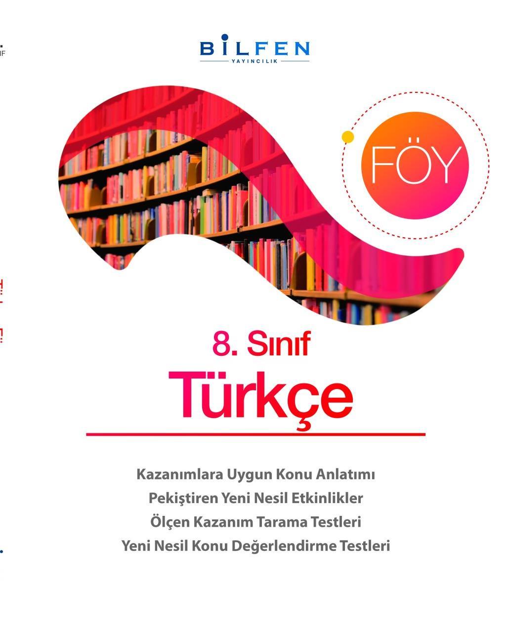 8. Sınıf Türkçe Öğrenim Öğrenim Föylerileri Bilfen Yayıncılık