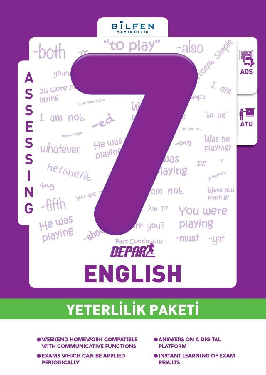 7. Sınıf İngilizce Depar Yeterlilik Paketi Bilfen Yayıncılık