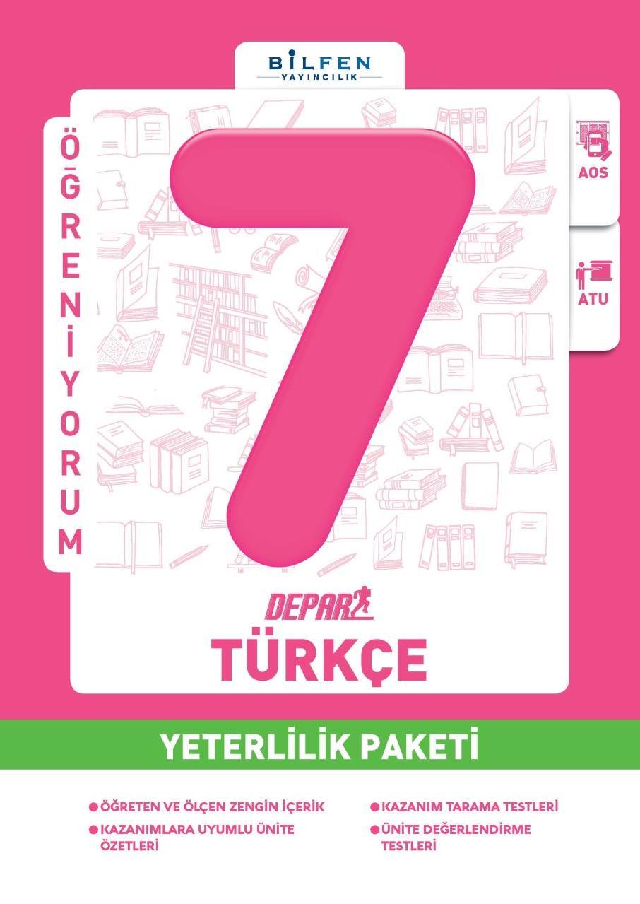 7. Sınıf Türkçe Depar Yeterlilik Paketi Bilfen Yayıncılık