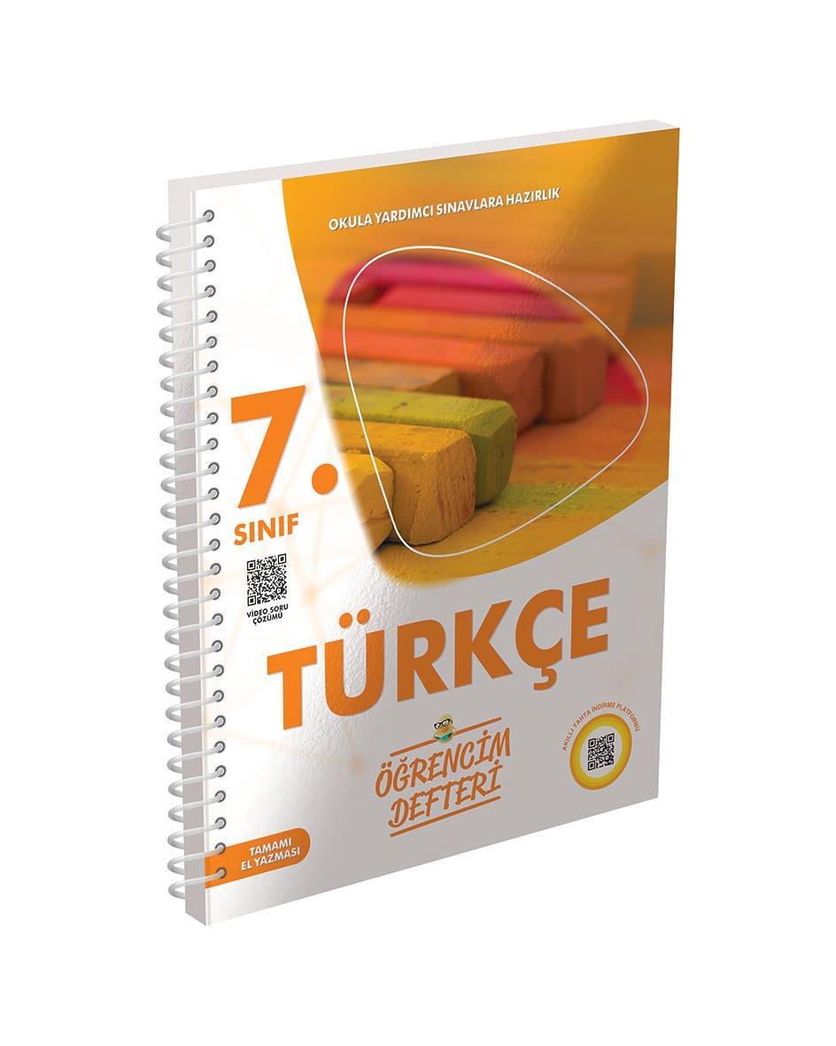 7.Sınıf Türkçe Öğrencim Defteri Murat Yayınları