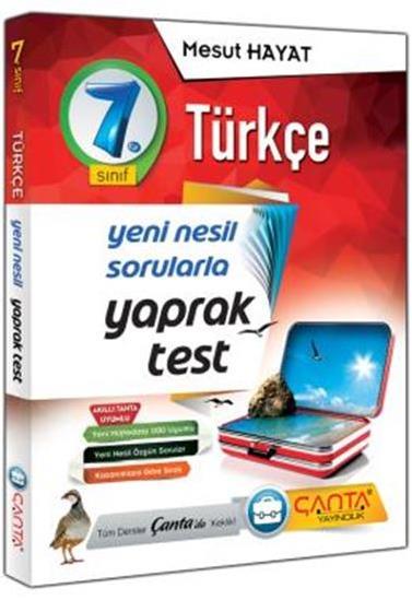 7. Sınıf Yaprak Test Türkçe Çanta Yayınları