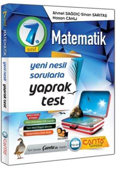 7. Sınıf Yaprak Test Matematik Çanta Yayınları